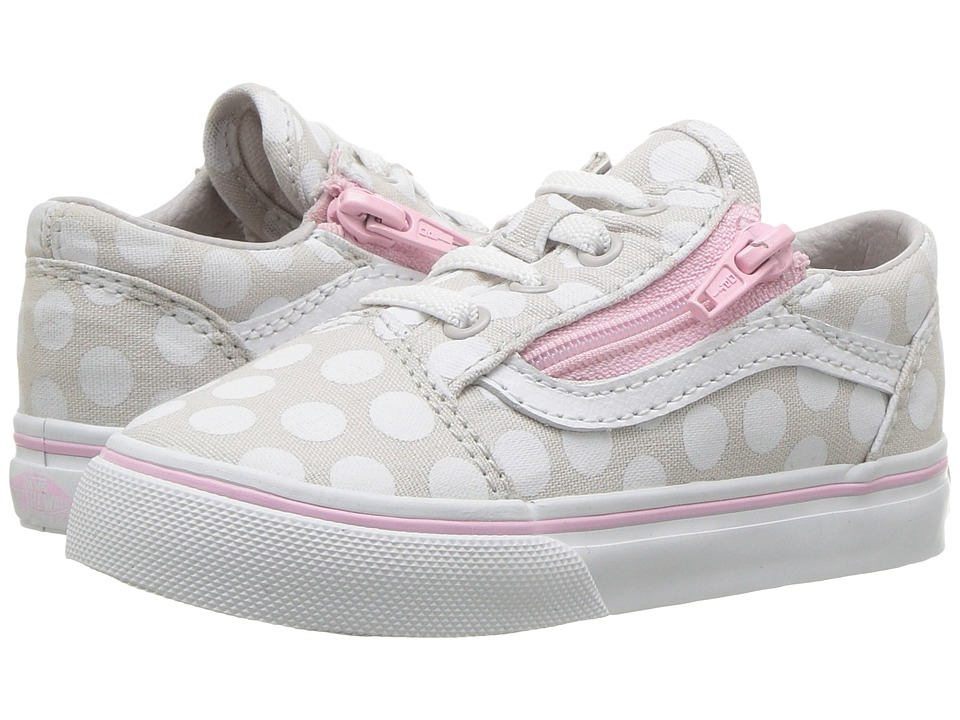 Vans Kids - Old Skool Zip (Toddler) ((Polka Dot) Wind Chime/Pink Lady) Girls Shoes