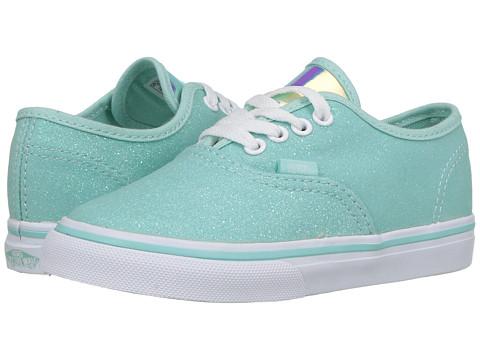 Vans Kids Authentic (Toddler) - (Glitter & Iridescent) Blue/True White