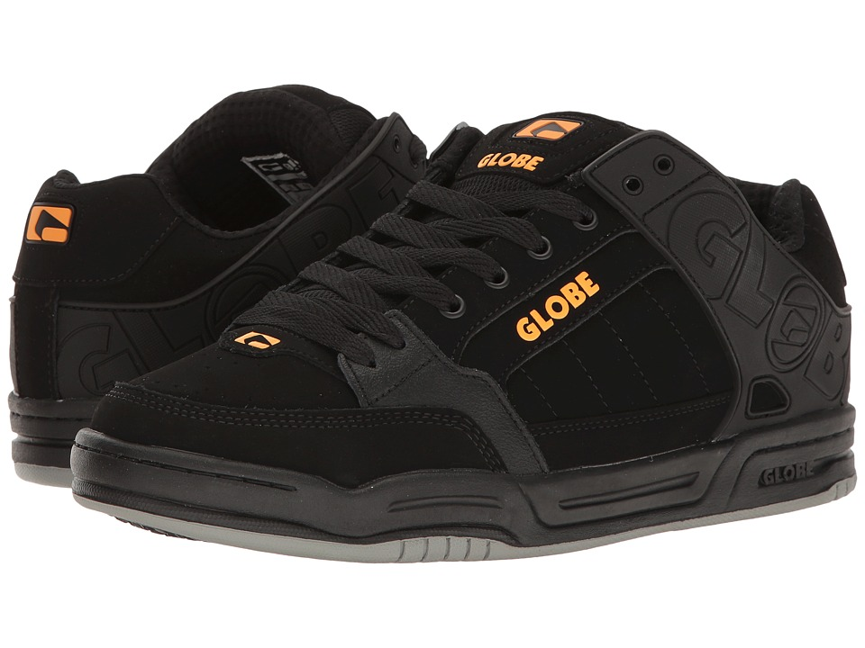 Globe - Tilt (Black/Black/Orange) Mens Skate Shoes