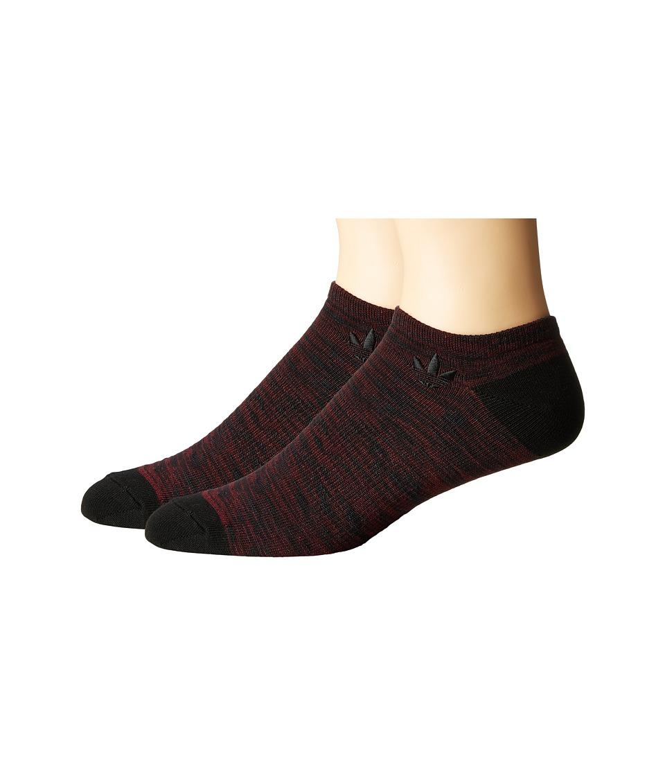 adidas - Originals Texture Space Dye No Show Sock 2-Pack
