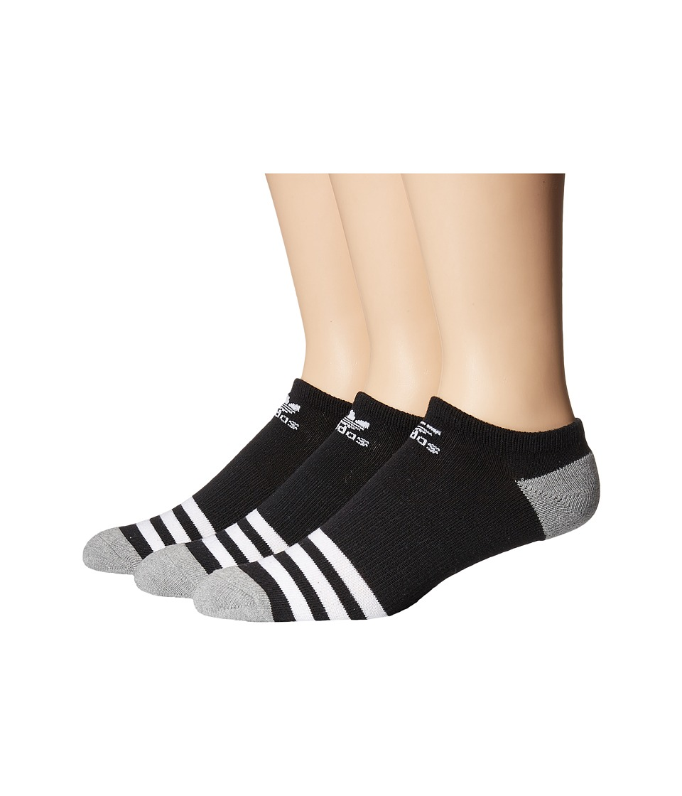 adidas - Originals Roller No Show Sock 3-Pack