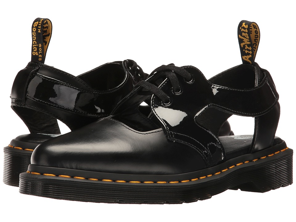 Dr. Martens Genna (Black Polished Smooth/Patent Lamper) Women