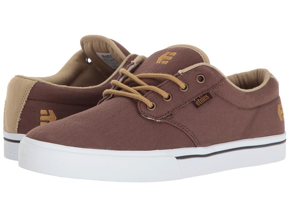 etnies - Jameson 2 Eco (Brown/Tan/White) Mens Skate Shoes
