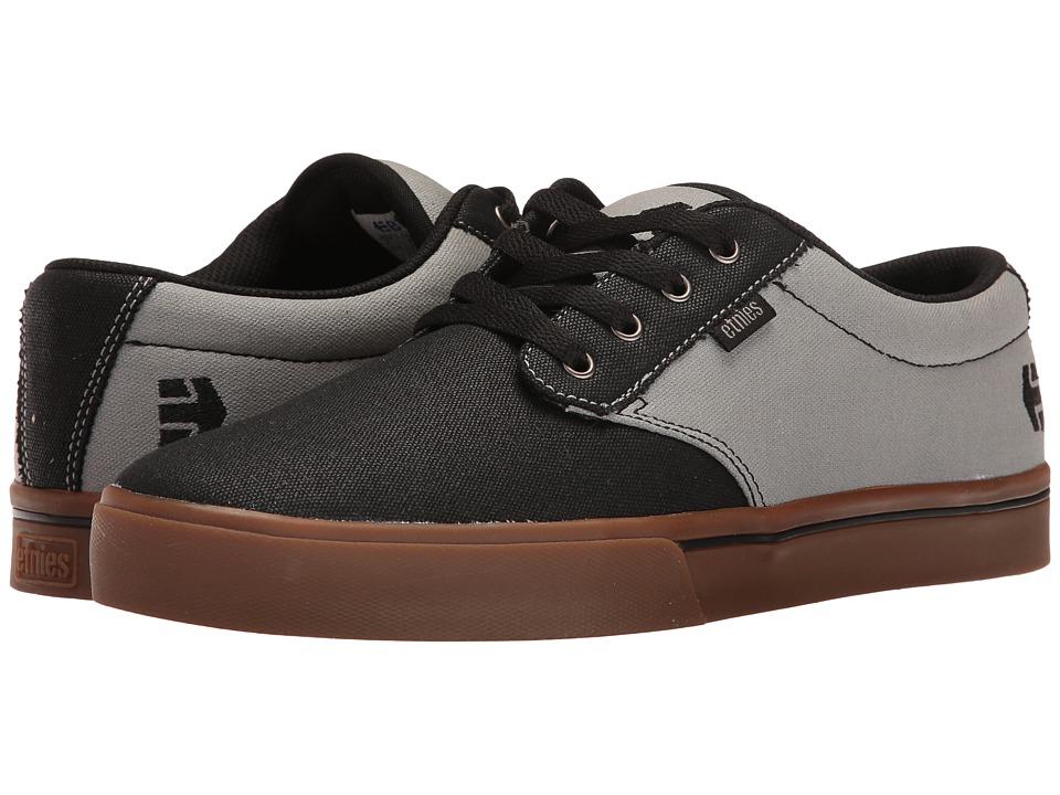 etnies - Jameson 2 Eco (Black/Black/Grey) Mens Skate Shoes