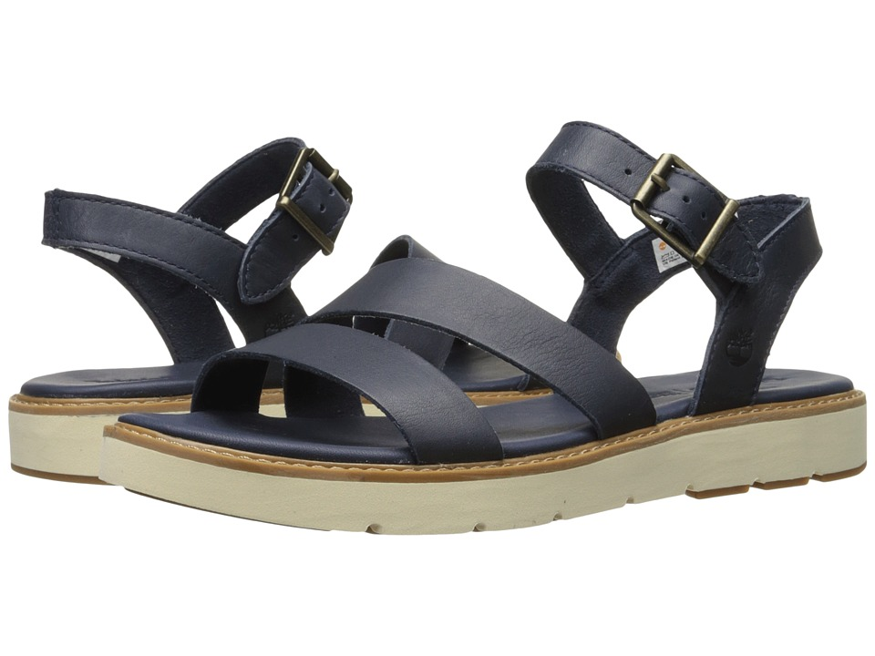 Timberland - Bailey Park Asymmetric Y-Strap (Navy Full Grain) Women's Sandals