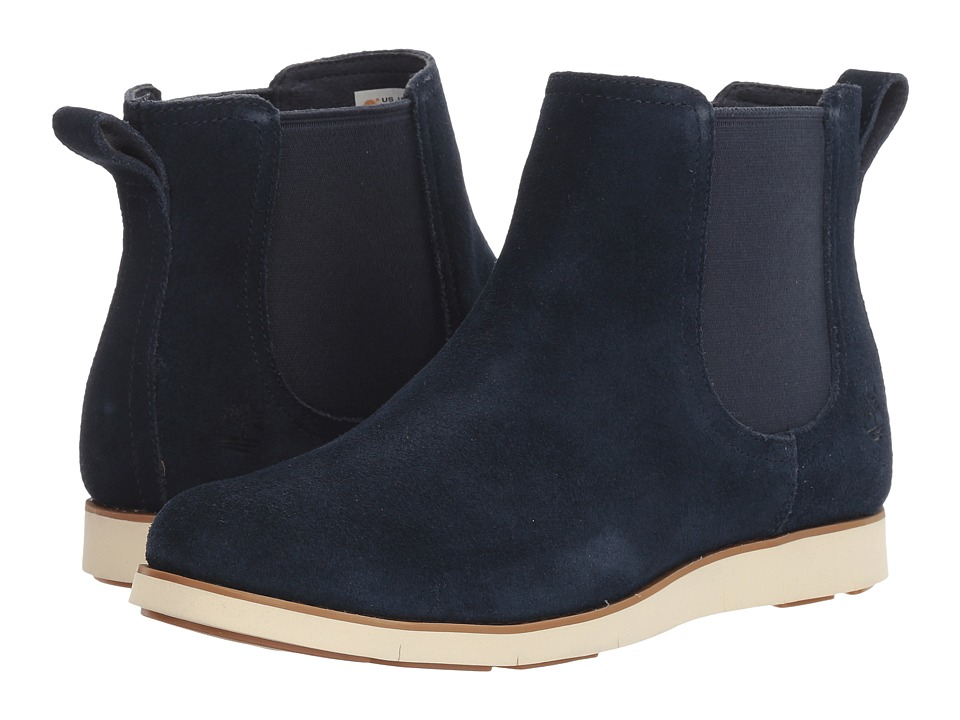 Timberland Lakeville Double Gore Chelsea (Navy Suede) Women