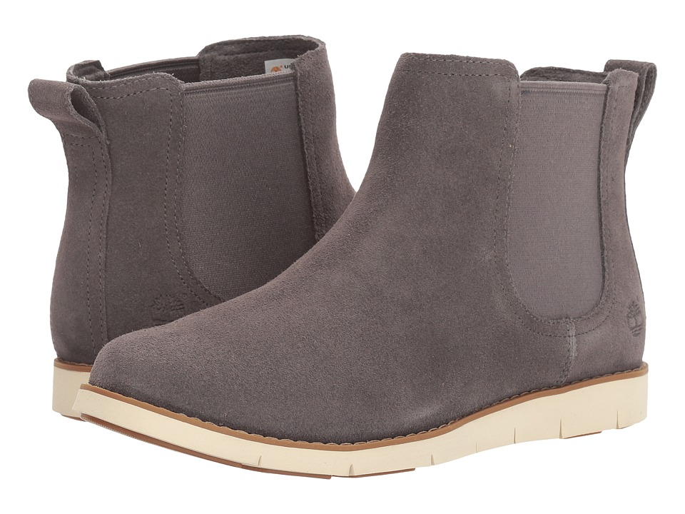 Timberland Lakeville Double Gore Chelsea (Dark Grey Suede) Women