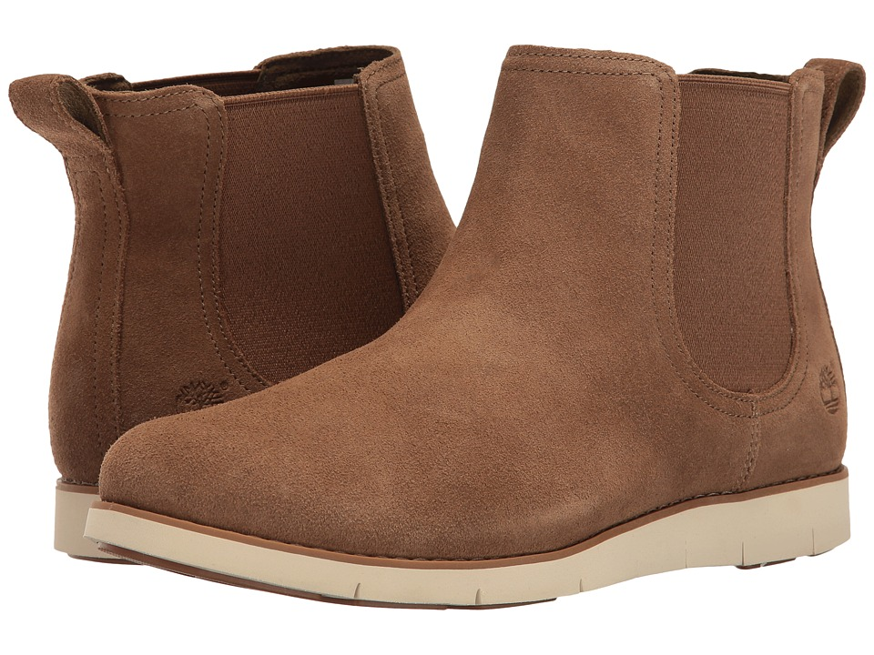 Timberland Lakeville Double Gore Chelsea (Medium Brown Suede) Women
