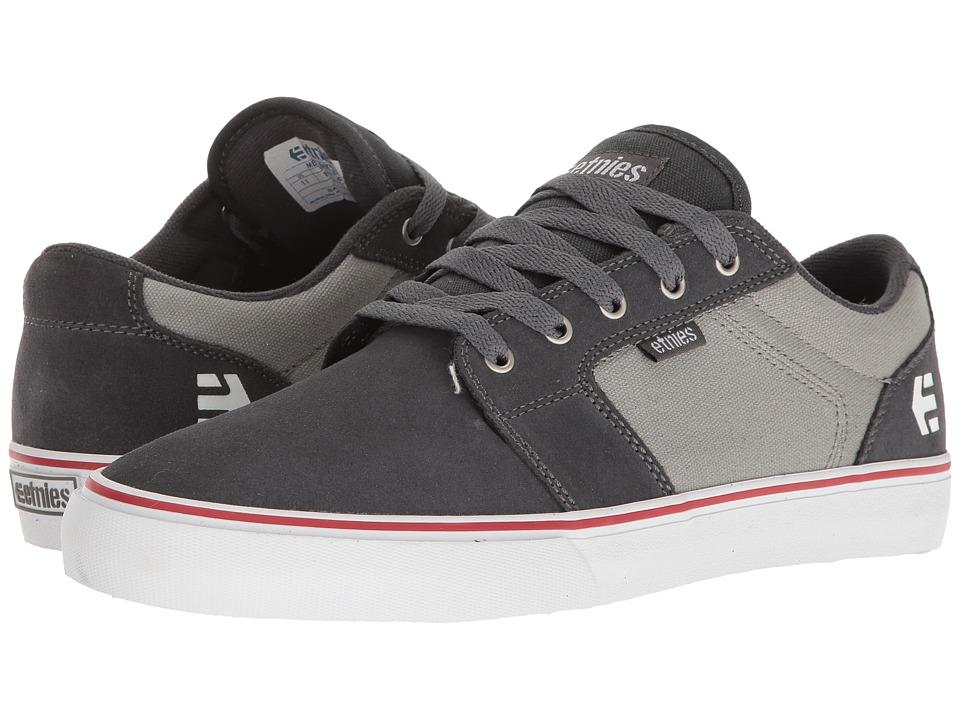 Etnies Barge LS (Dark Grey/Grey/Red) Men's Skate Shoes
