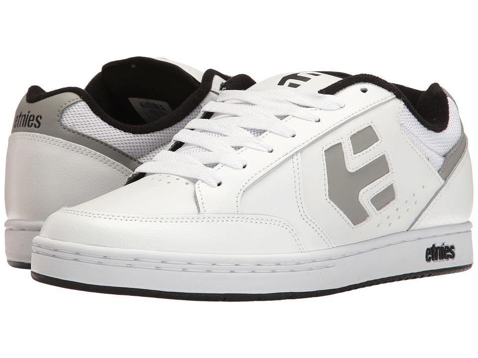 etnies - Swivel (White/Grey/Black) Mens Skate Shoes