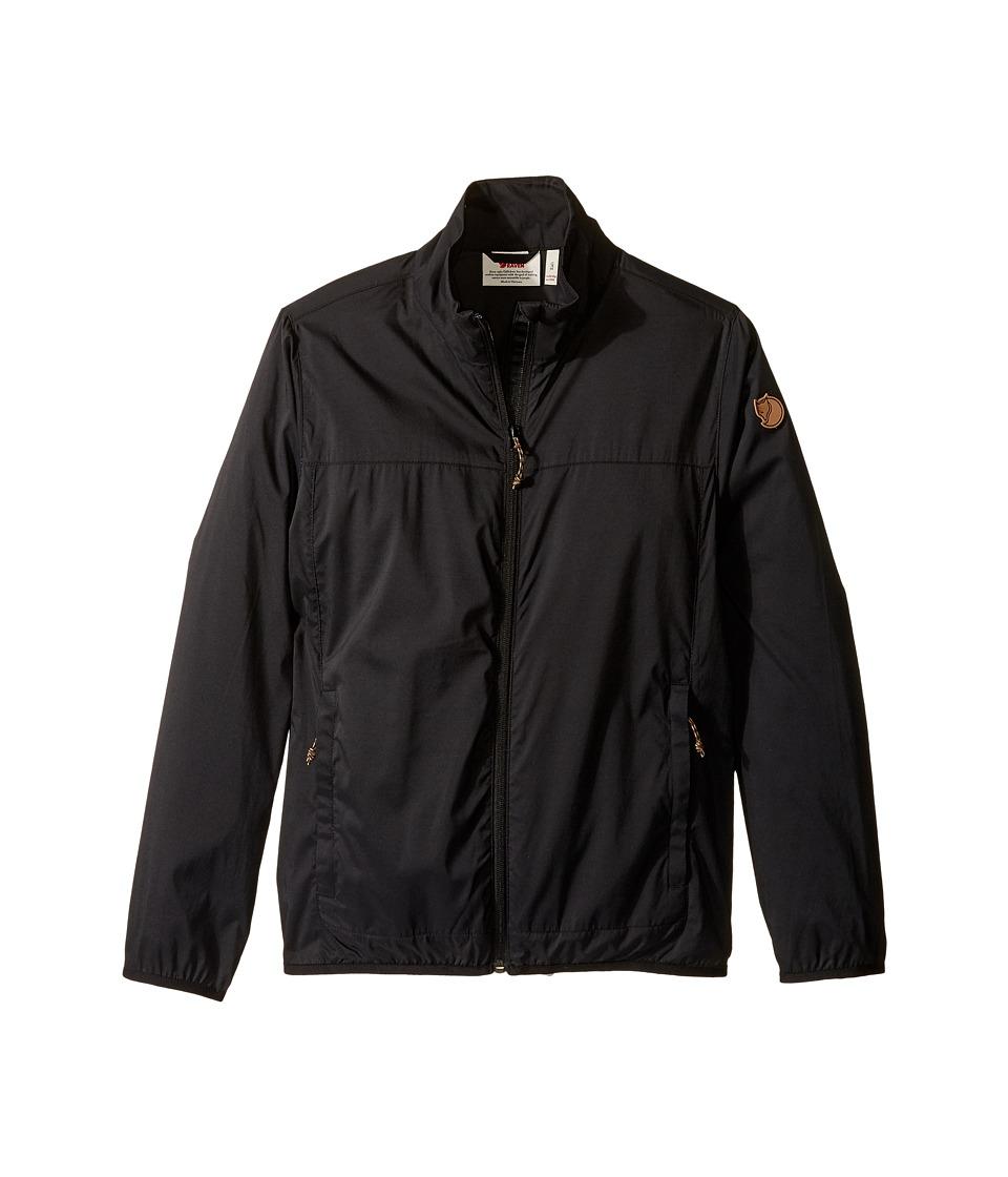 Fjallraven Kids - Abisko Windbreaker Jacket (Little Kids/Big Kids) (Black) Boys Coat