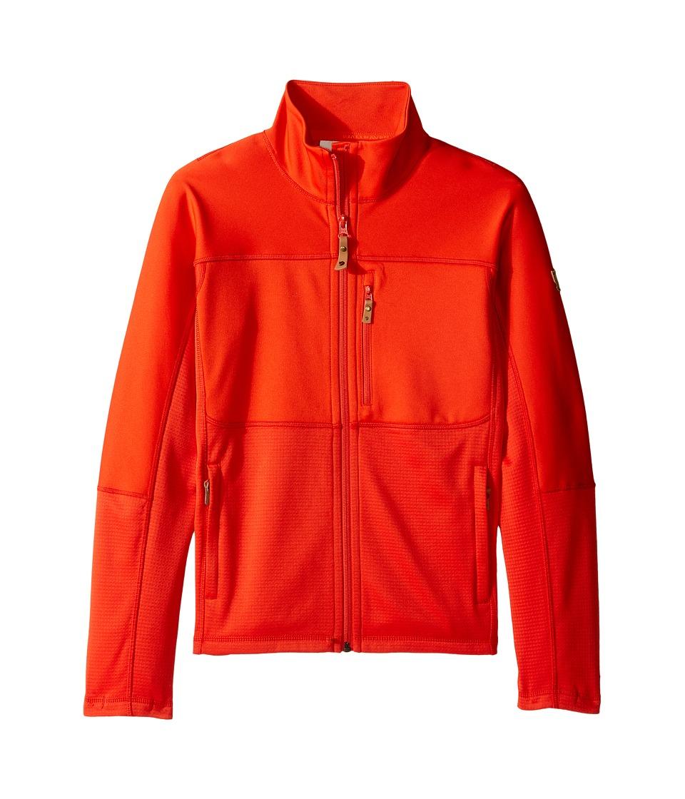 Fjallraven Kids - Abisko Trail Fleece (Little Kids/Big Kids) (Flame Orange) Boys Fleece