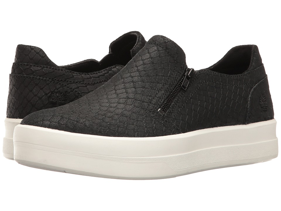 Timberland Mayliss Slip-On (Black Suede/Snake Emboss) Women