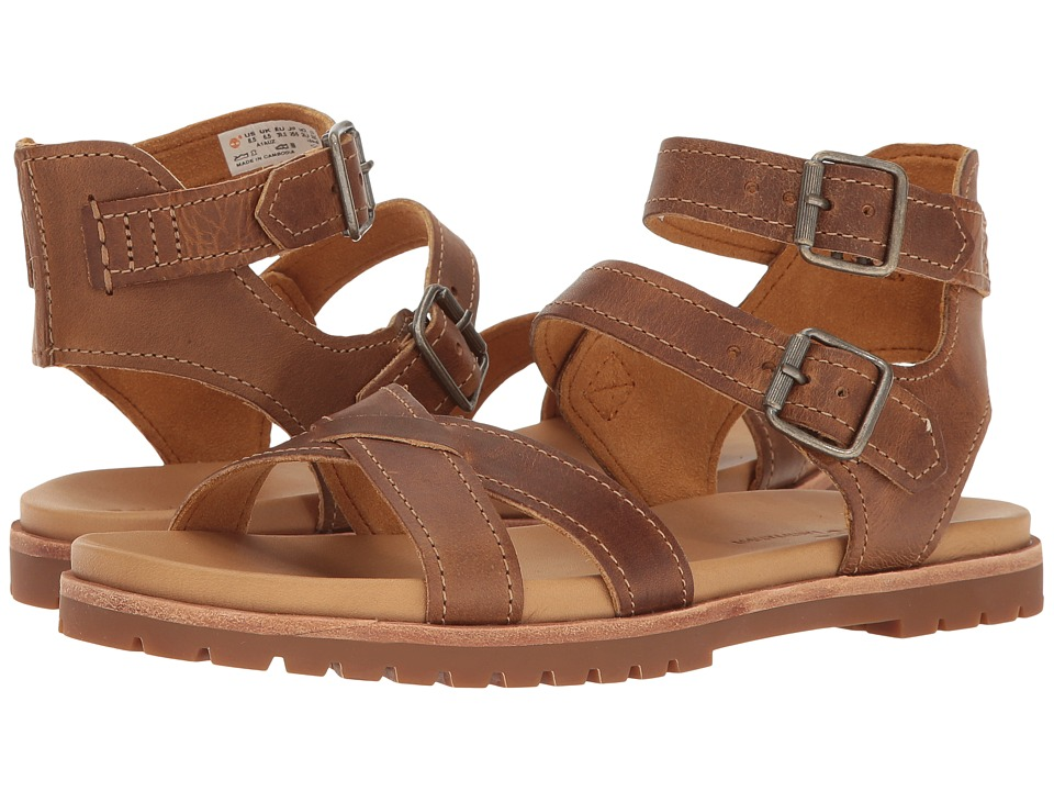 Timberland Natoma Y-Strap Sandal (Medium Brown Full Grain) Women