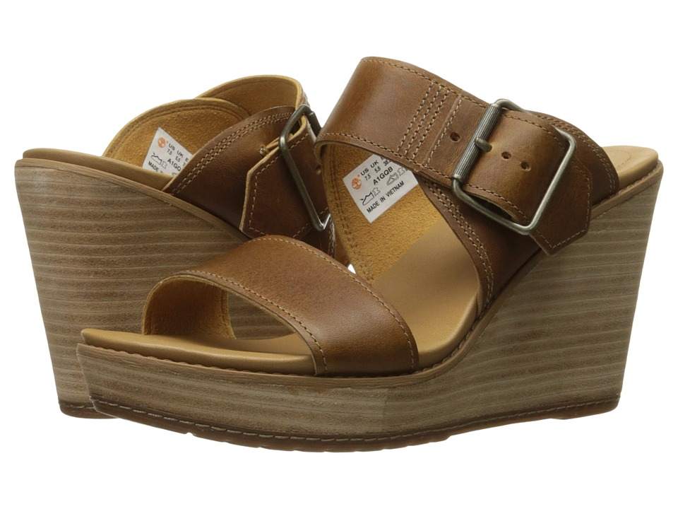 Timberland Brenton Buckle Slide (Medium Brown Full Grain) Women