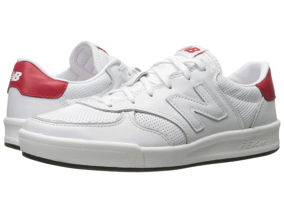 New Balance Classics - CRT300v1 (White/Red) Mens Court Shoes