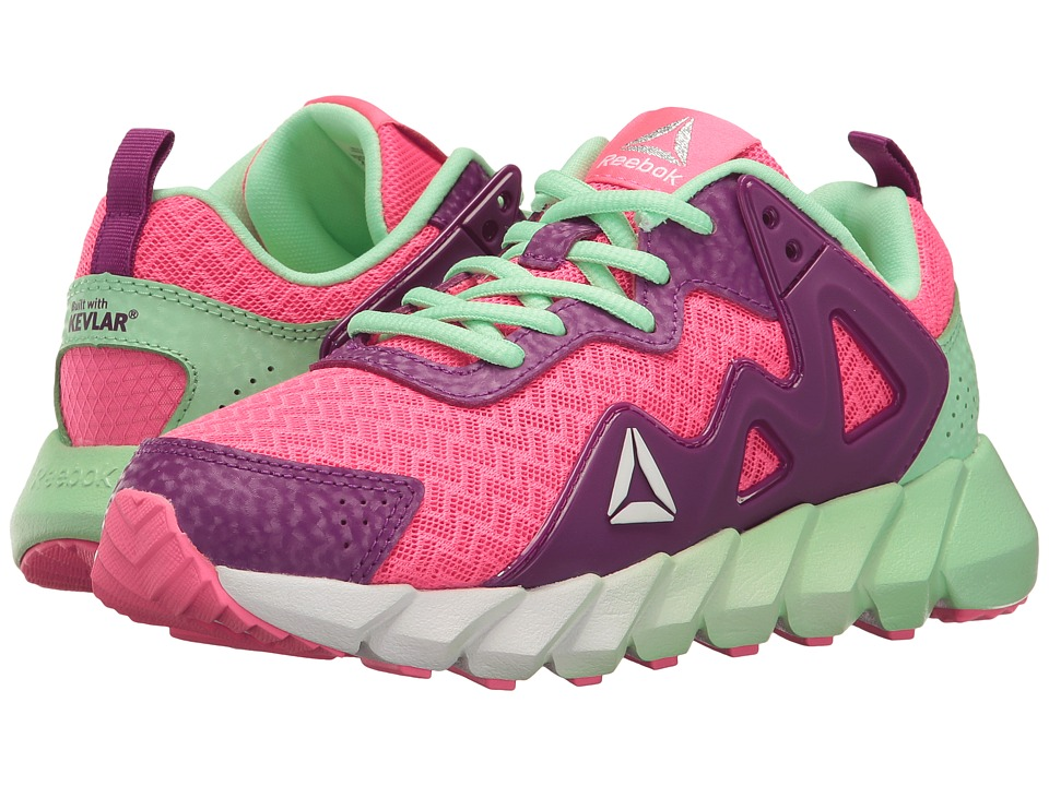 Reebok Kids - Exocage Athletic II (Little Kid) (Solar Pink/Aubergine/Mint Green) Girls Shoes