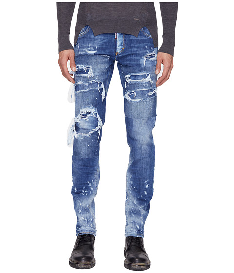DSQUARED2 Slim Strapped Wash Jeans