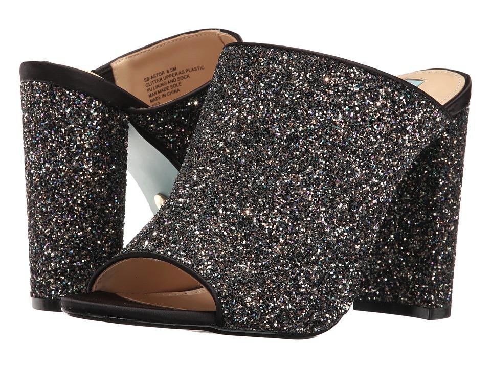 Blue by Betsey Johnson Astor (Black Glitter) High Heels
