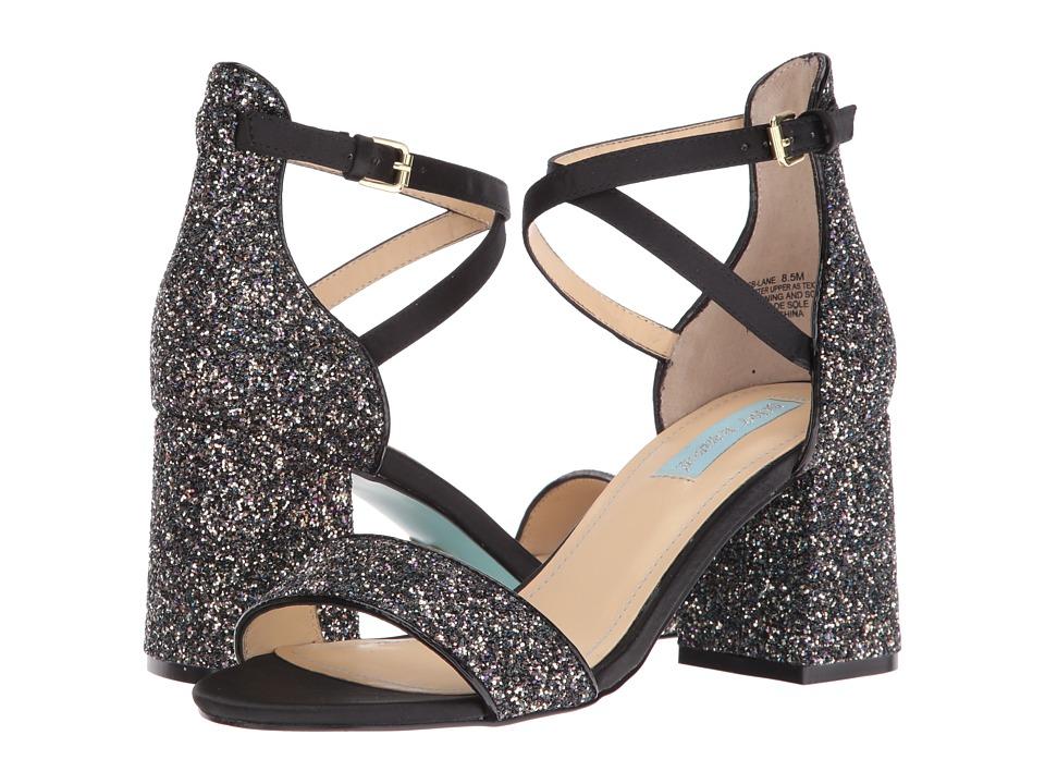 Blue by Betsey Johnson Lane (Black Glitter) High Heels