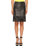Jeremy Scott - Studded Leather Fringe Skirt