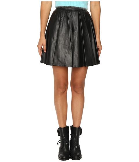 Jeremy Scott Leather Circle Skirt