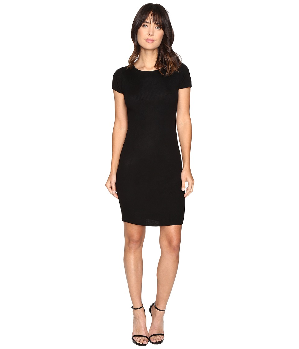 Culture Phit Germaine Ribbed Bodycon Sweater Dress (Black) Women