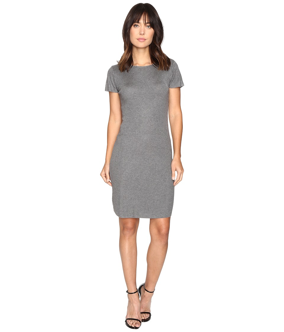 Culture Phit Germaine Ribbed Bodycon Sweater Dress (Grey) Women