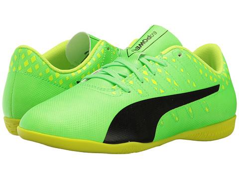 Puma Kids evoPower Vigor 4 IT Jr Soccer (Little Kid/Big Kid) - Green Gecko/Puma Black/Safety Yellow