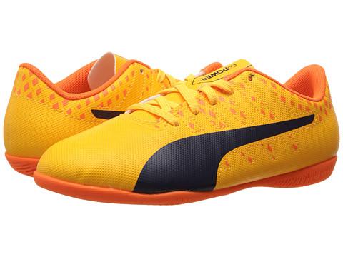 Puma Kids evoPower Vigor 4 IT Jr Soccer (Little Kid/Big Kid) - Ultra Yellow/Peacoat/Orange Clown Fish