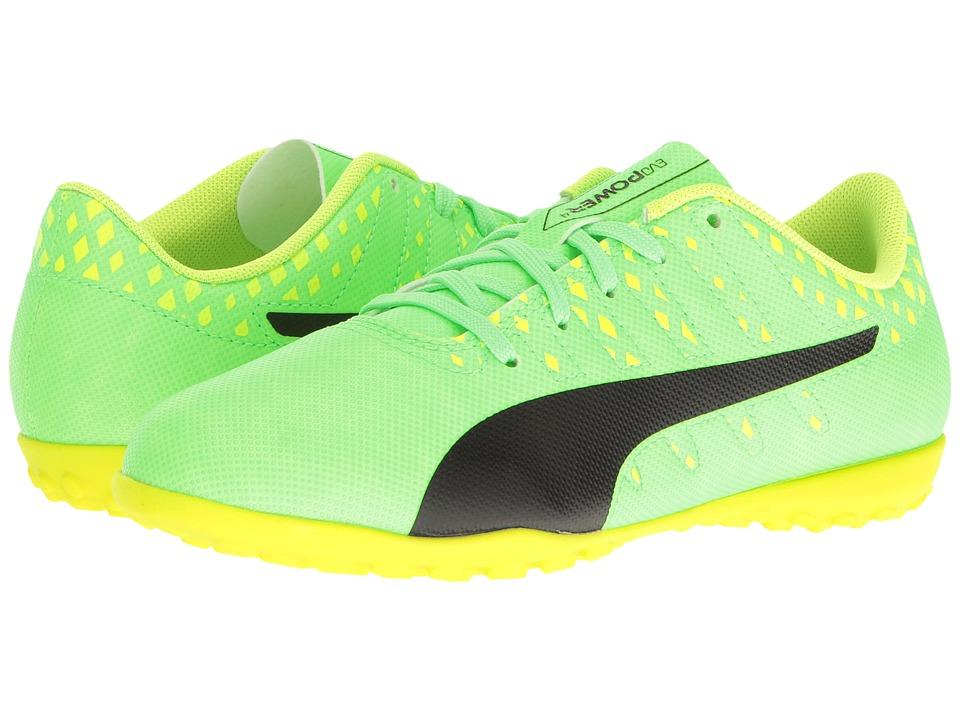 Puma Kids evoPower Vigor 4 TT Jr Soccer (Little Kid/Big Kid) (Green Gecko/Puma Black/Safety Yellow) Kids Shoes