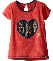 Lucky Brand Kids - Short Raglan Sleeve Tee with Heart Applique (Little Kids)