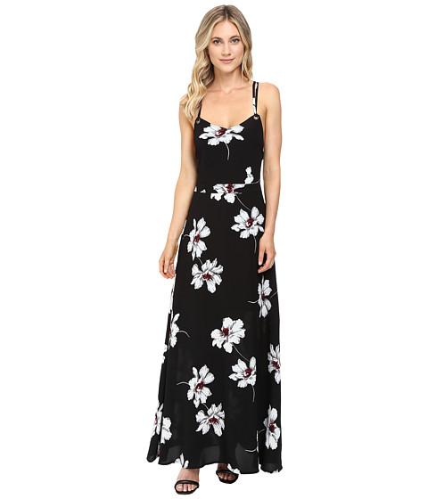 Brigitte Bailey Surya Spaghetti Strap Maxi Dress with Open Back - Black/White