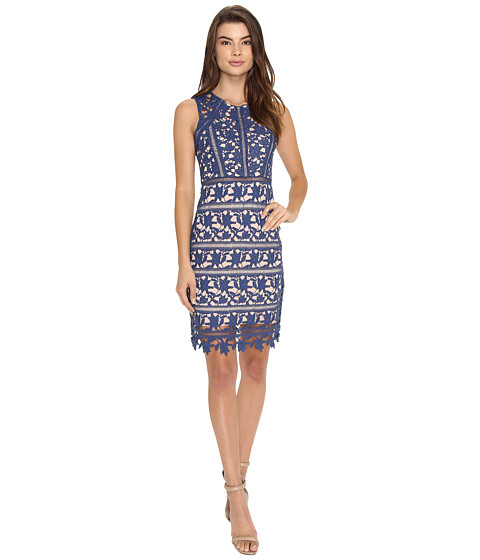Brigitte Bailey Taren Sleeveless Lace Dress - Navy