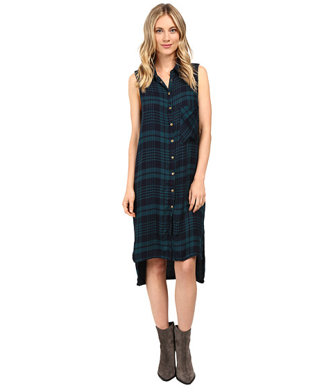 Brigitte Bailey Tulsi Sleeveless Plaid Dress with Grommet Detail