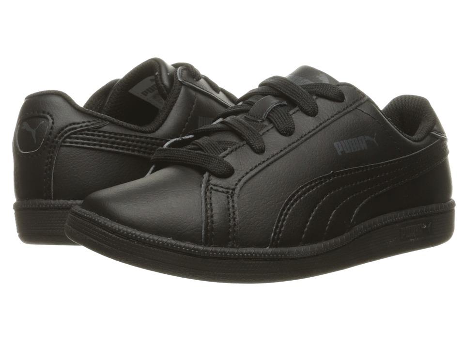 Puma Kids Smash Fun L PS (Little Kid/Big Kid) (Black/Black) Kids Shoes