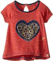 Lucky Brand Kids - Short Raglan Sleeve Tee with Heart Applique (Toddler)