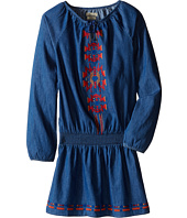 Lucky Brand Kids - Chambray Peasant Dress with Embroidery (Big Kids)