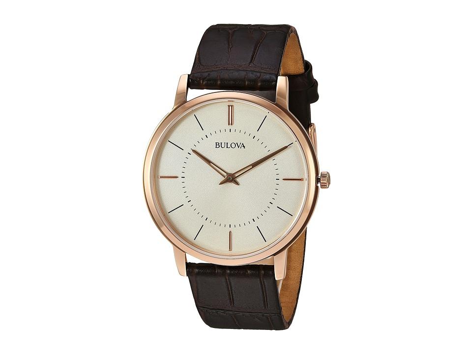BULOVA Classic - 97A126 (Cream/Rose Gold) Watches