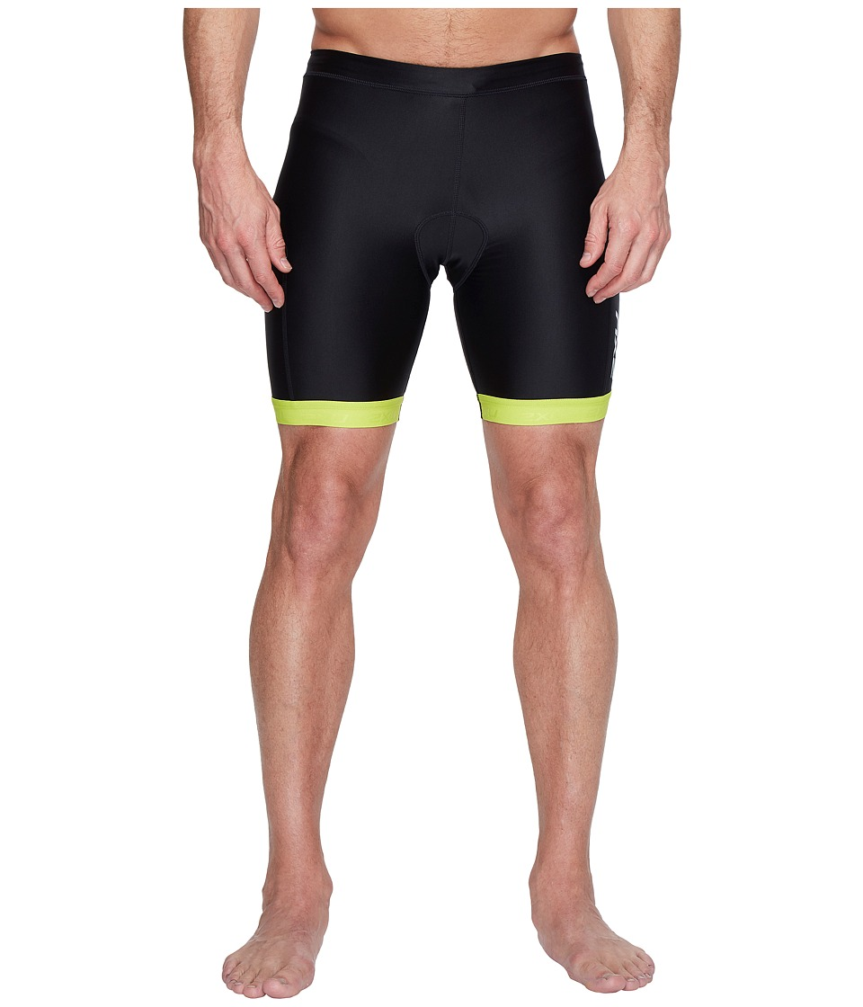 2XU X-Vent 7 Tri Shorts (Black/Lime Punch) Men