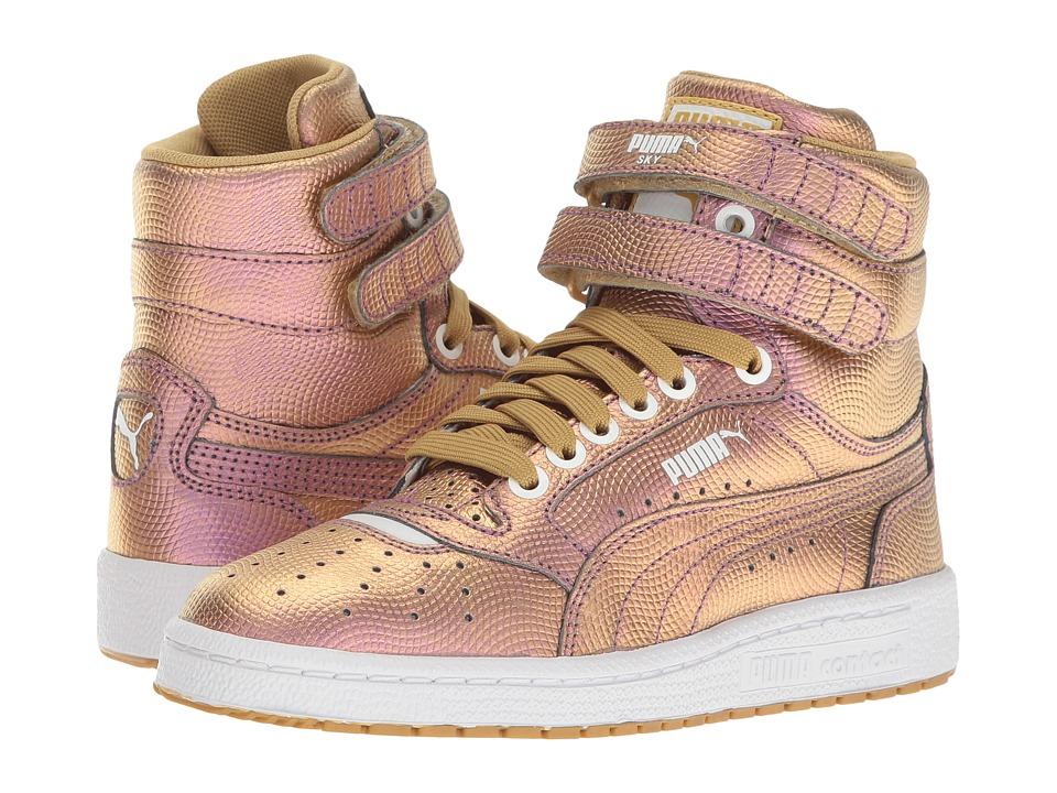 Puma Kids Sky II Hi Holo Jr (Big Kid) (Gold) Girls Shoes