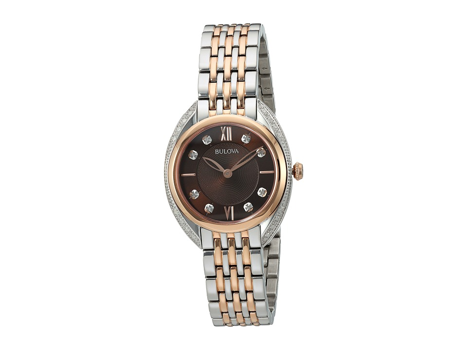 BULOVA Diamonds - 98R230 (Stainless Steel/Rose Gold) Watches
