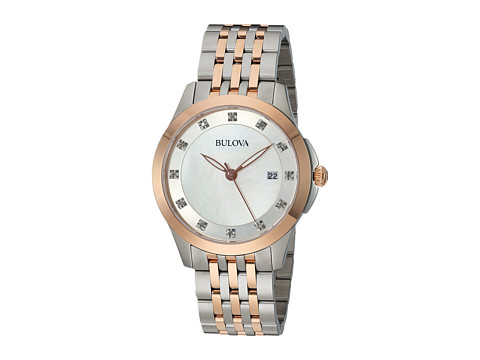 Bulova Diamonds - 98P162 - Stainless Steel/Rose Gold/Mother-of-Pearl