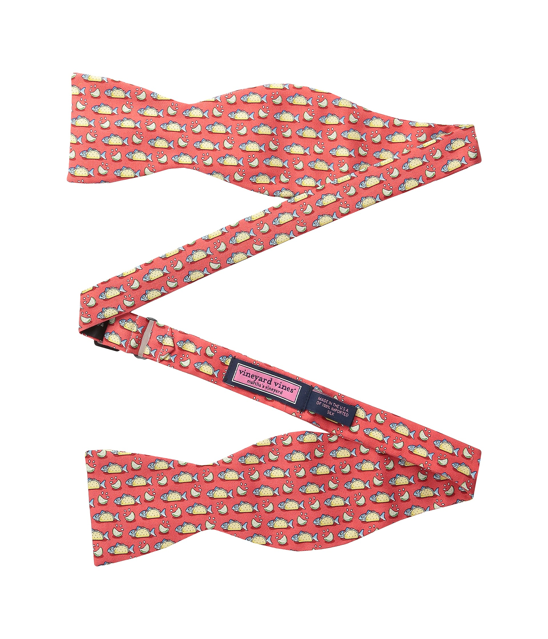 Vineyard vines fish taco printed bow tie free for Fish bow tie