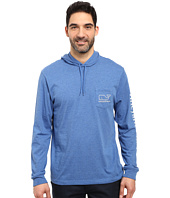 Vineyard Vines - Long Sleeve Heather Whale Hoodie Pocket T-Shirt