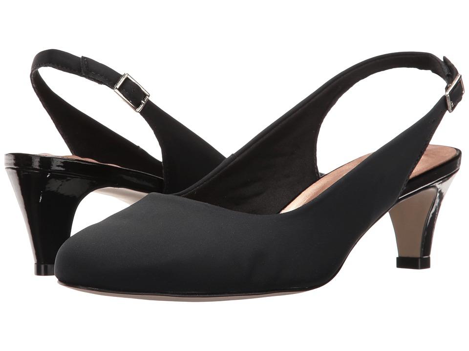 Walking Cradles Jolly (Black Micro) 1-2 inch heel Shoes