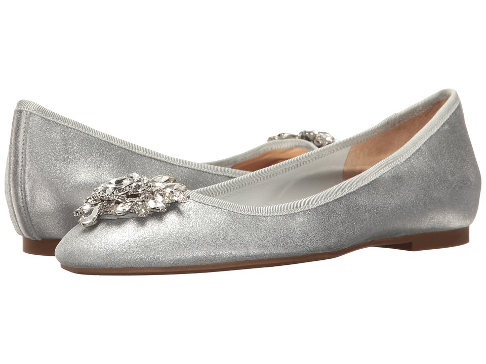 Badgley Mischka Bianca (Silver Metallic Suede) Women