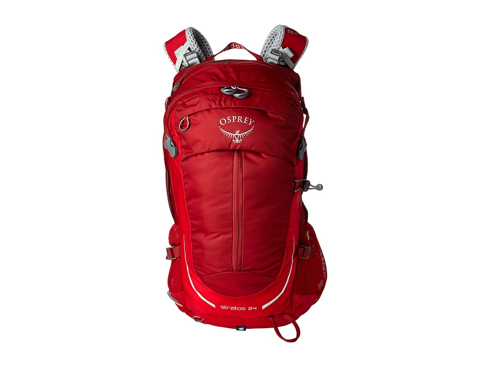 Osprey - Stratos 24 (Beet Red) Backpack Bags