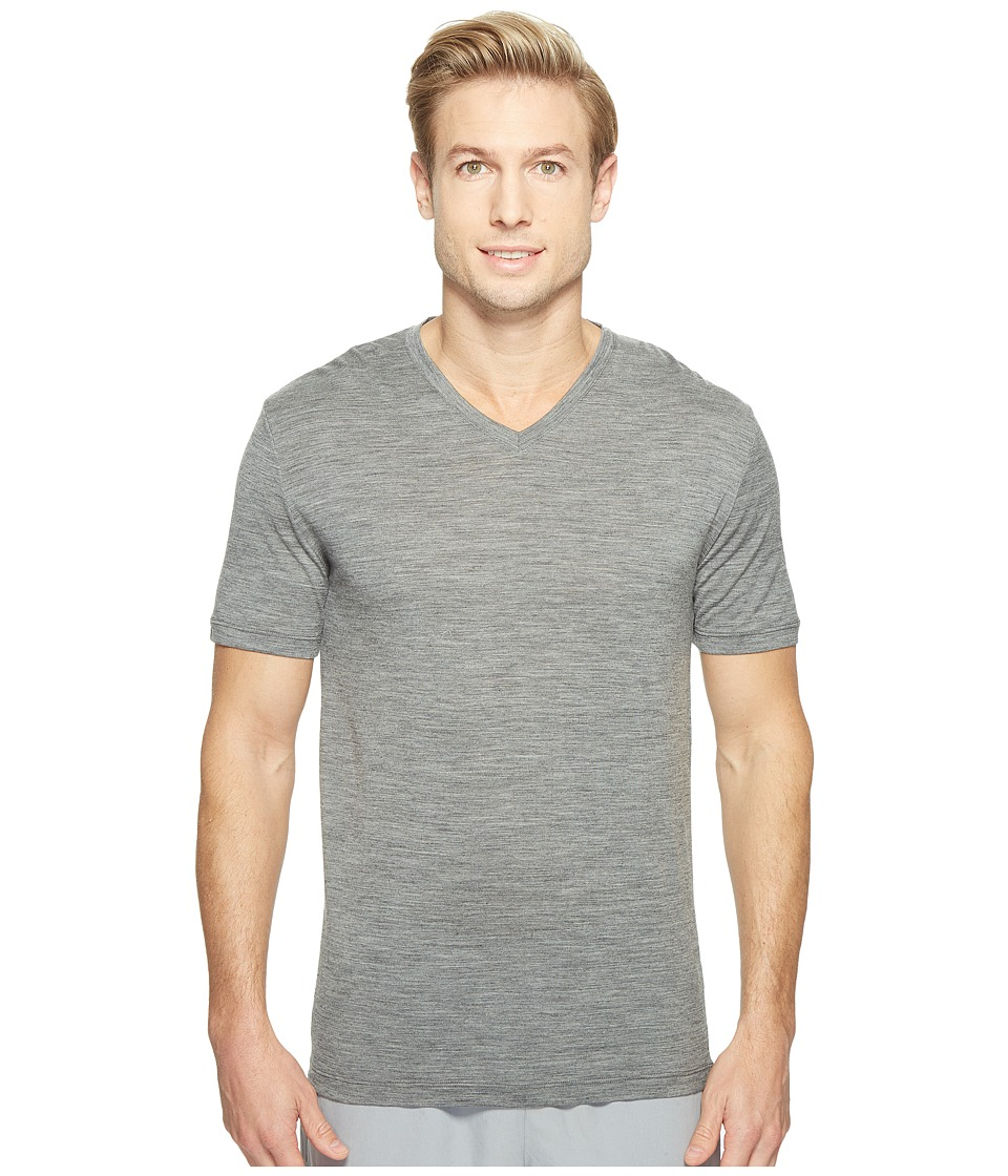 Icebreaker Tech S/S V (Gritstone Heather) Men