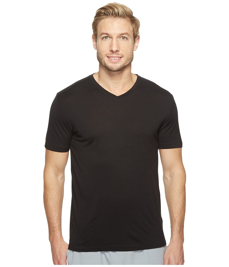 Icebreaker Tech S/S V (Black) Men